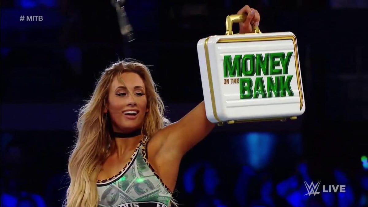 Carmella wins Money in the Bank Ladder match once again