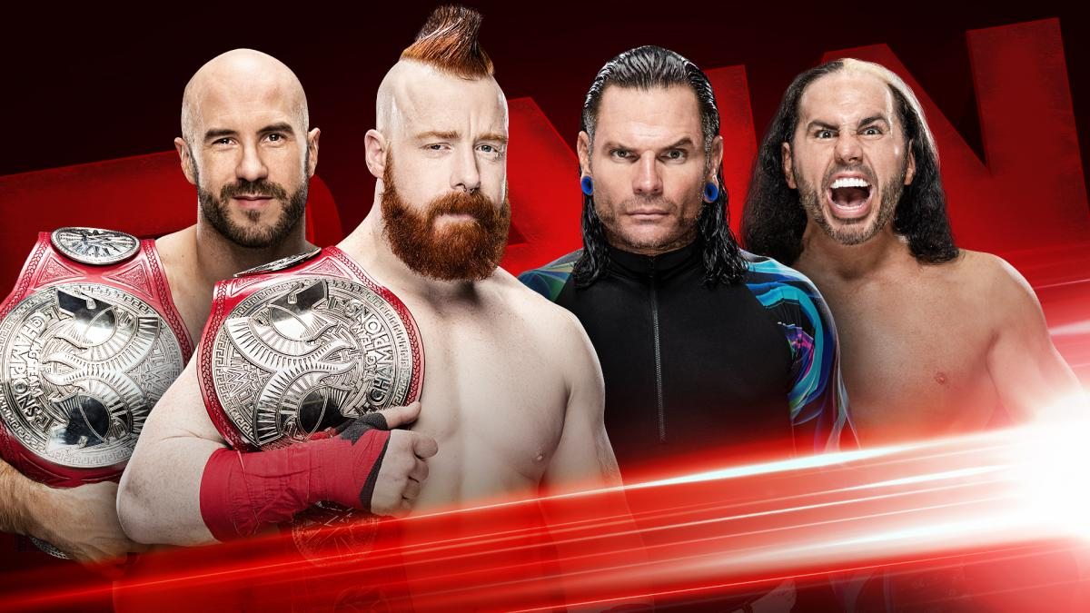 Cesaro & Sheamus vs. The Hardy Boyz - Raw Tag Team Title Rematch on Raw