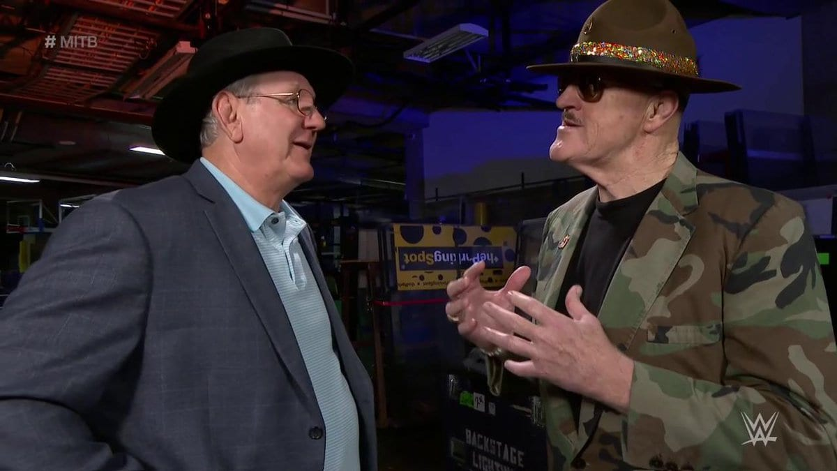 Cowboy Bob Orton & Sgt. Slaughter at Money in the Bank 2017 PPV