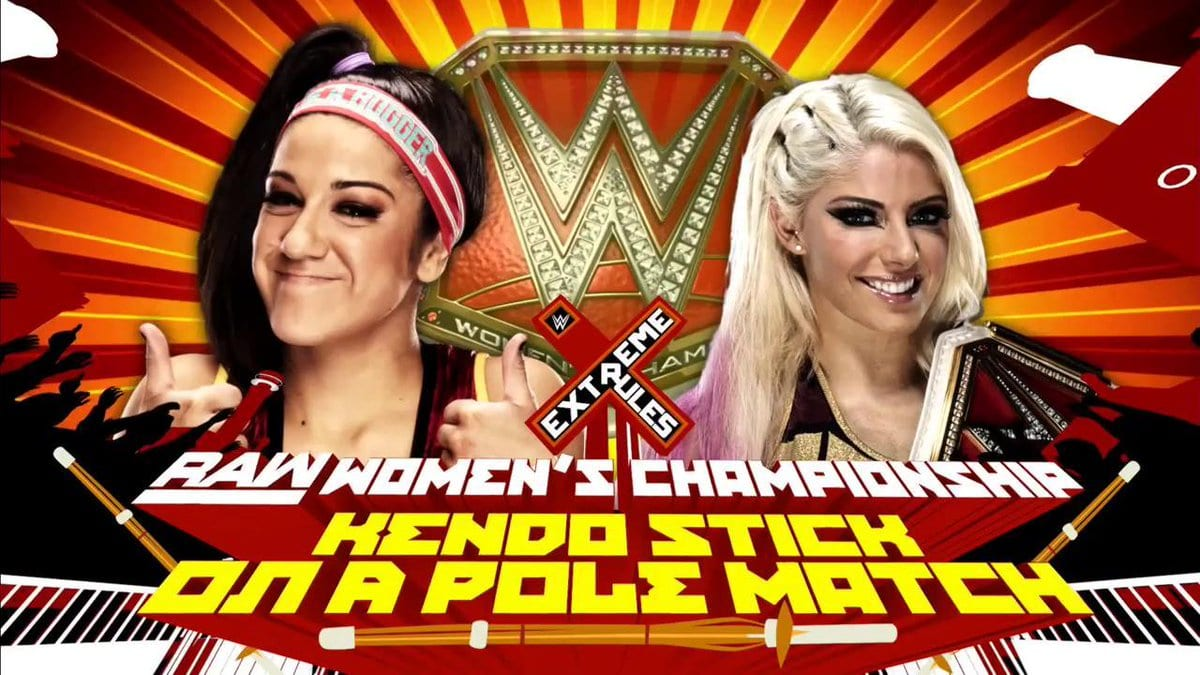 Extreme Rules 2017 - Alexa Bliss vs. Bayley (Kendo Stick on a Pole match for the Raw Women's Championship)