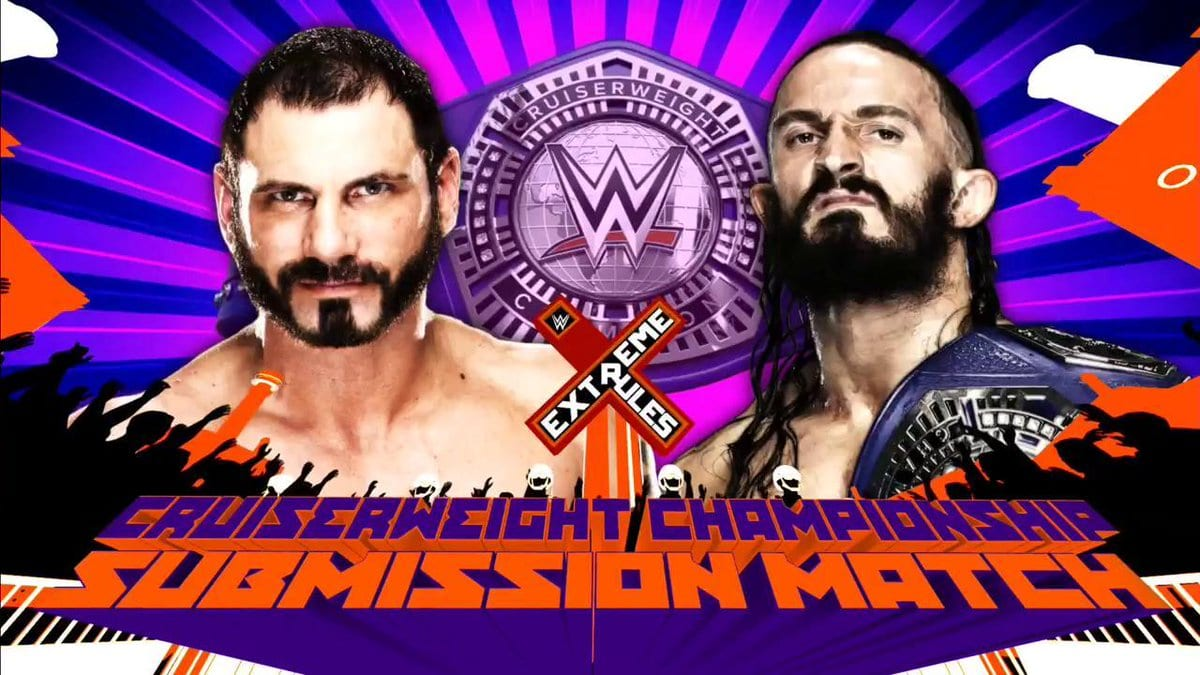 Extreme Rules 2017 - Neville vs. Austin Aries (Submission match for the WWE Cruiserweight Championship)