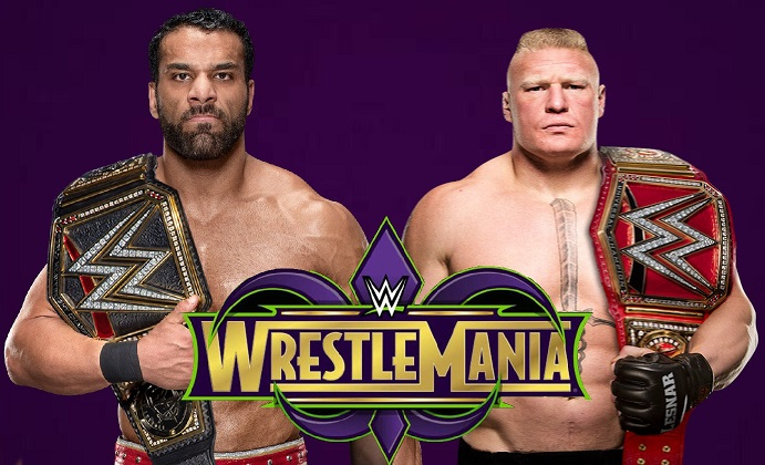 WWE Champion Jinder Mahal vs. Universal Champion Brock Lesnar - WrestleMania