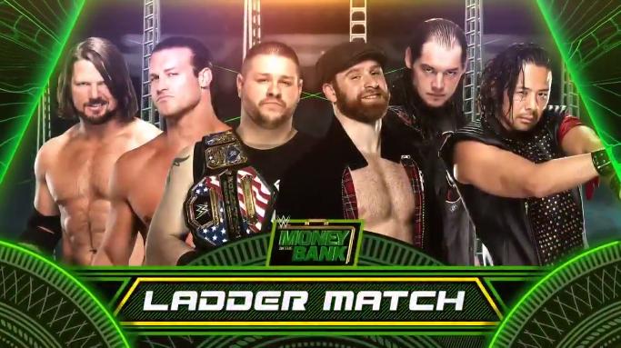 Men's Money in the Bank Ladder match 2017 - AJ Styles vs. Dolph Ziggler vs. Kevin Owens vs. Sami Zayn vs. Shinsuke Nakamura vs. Baron Corbin