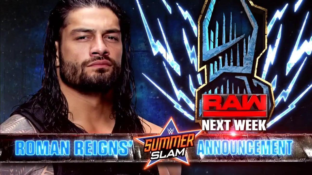 Roman Reigns to make a SummerSlam 2017 announcement next week on Raw