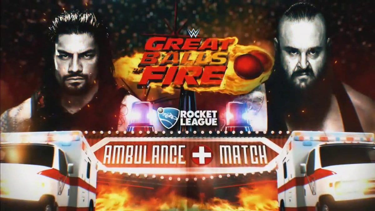 Roman Reigns vs. Braun Strowman - Ambulance Match At Great Balls of Fire 2017 PPV