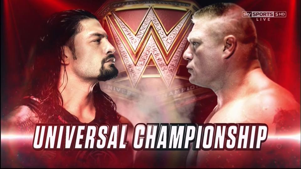 Roman Reigns vs. Brock Lesnar - Universal Championship match at WrestleMania 34