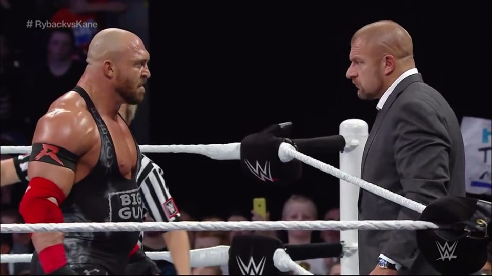 Ryback & Triple H Staredown - Ryback vs. Triple H was never supposed to happen