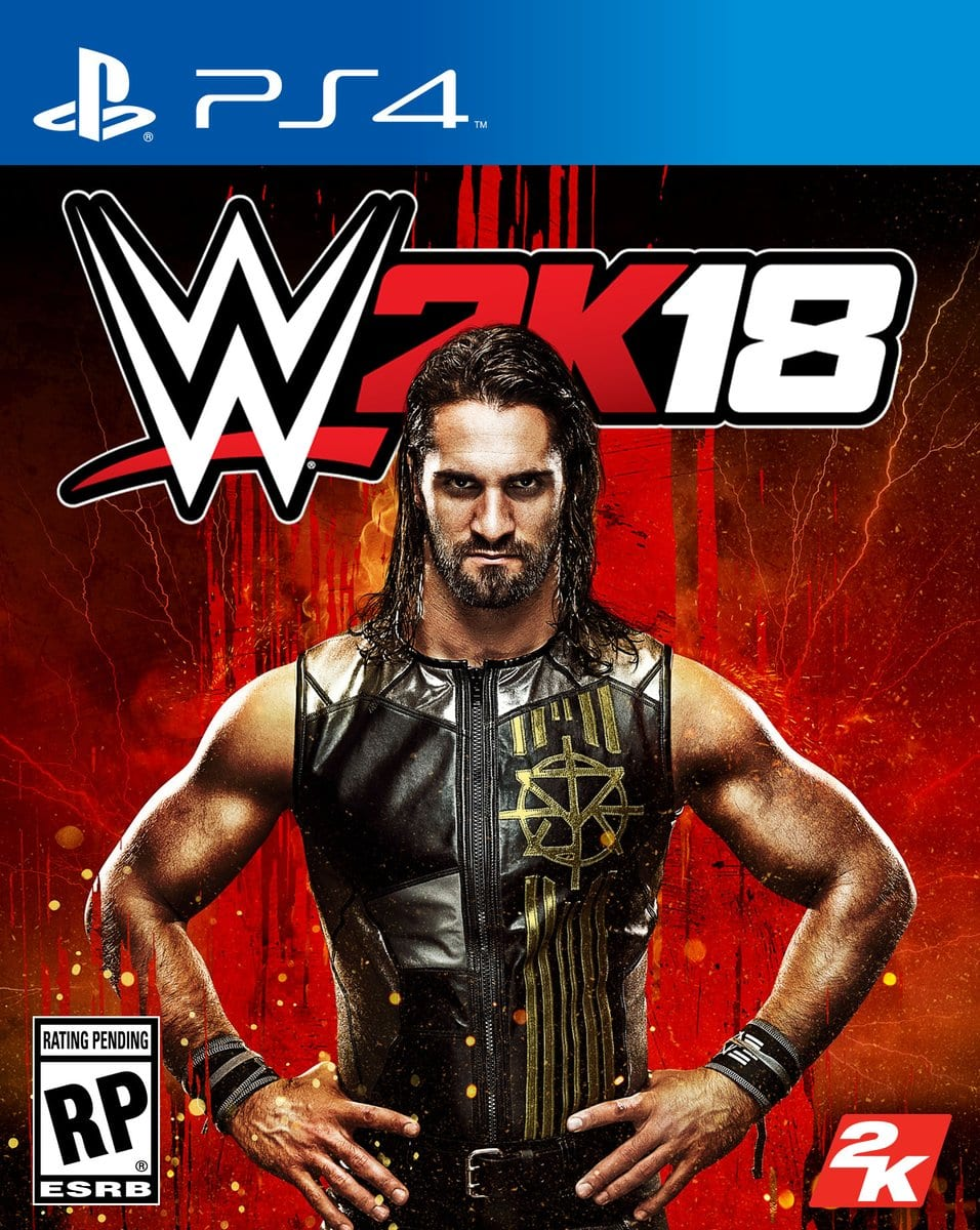Seth Rollins is on the cover of WWE 2K18 Video Game