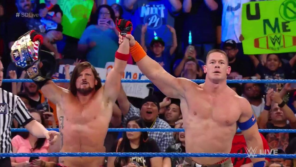 AJ Styles vs. John Cena for the United States Title is being planned for SummerSlam 2017