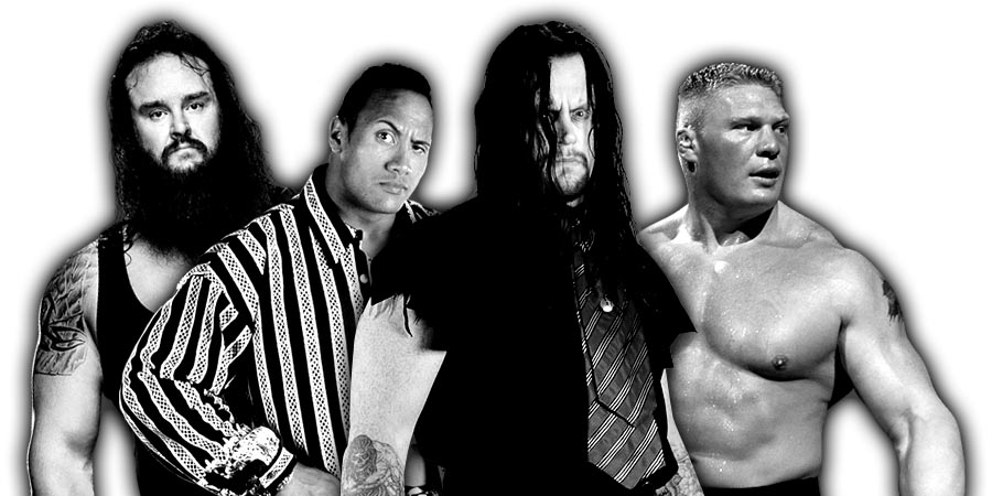 Braun Strowman, The Rock, The Undertaker, Brock Lesnar