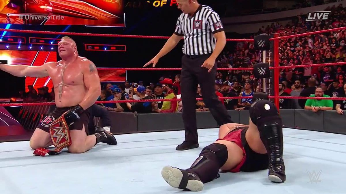 Brock Lesnar defeats Samoa Joe at Great Balls of Fire 2017 PPV to retain the Universal Championship