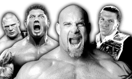 Goldberg, Brock Lesnar, Batista, Triple H