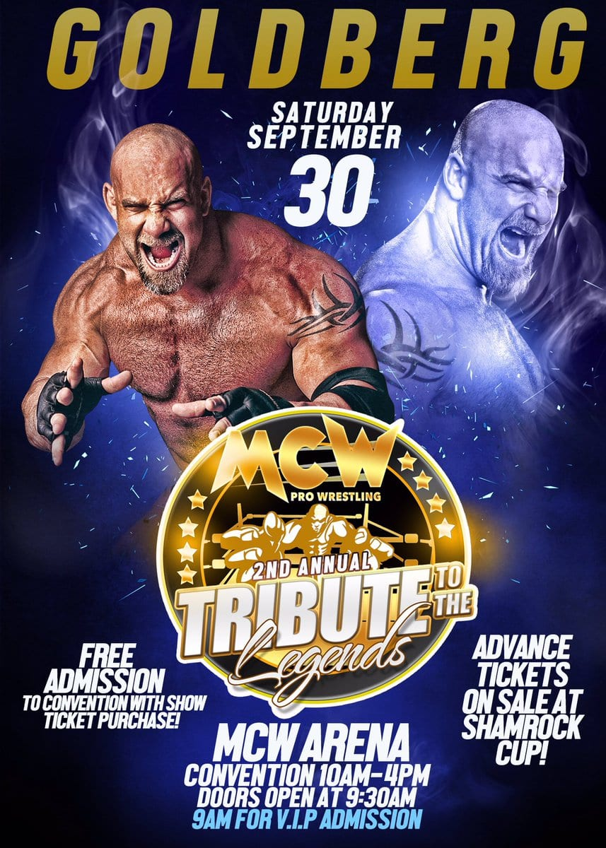 Goldberg appearing at Maryland Championship Wrestling's 2nd Annual Tribute To The Legends show on September 30, 2017