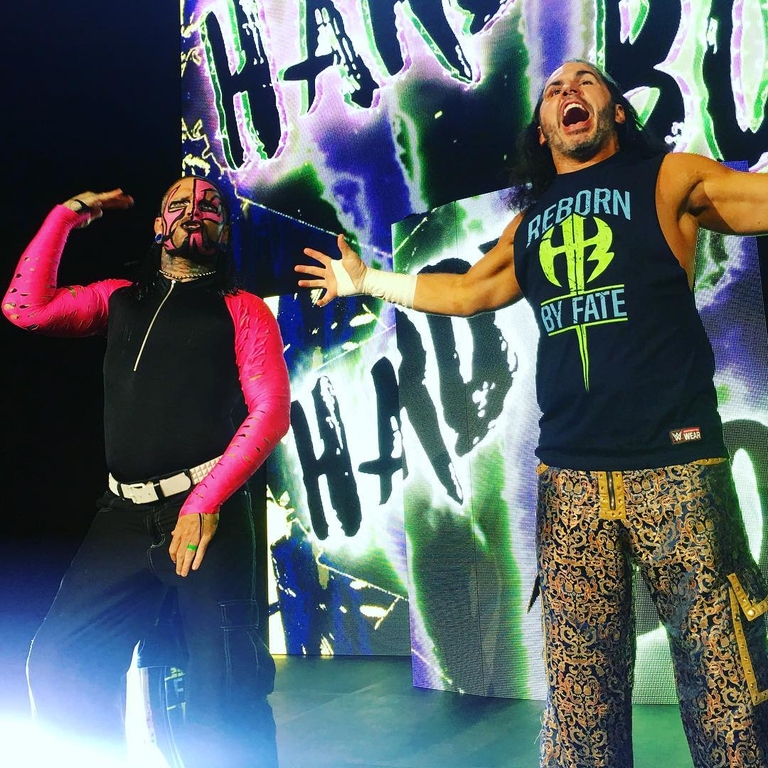 Jeff Hardy returns to his face-painted look at WWE Live Event - July 2017