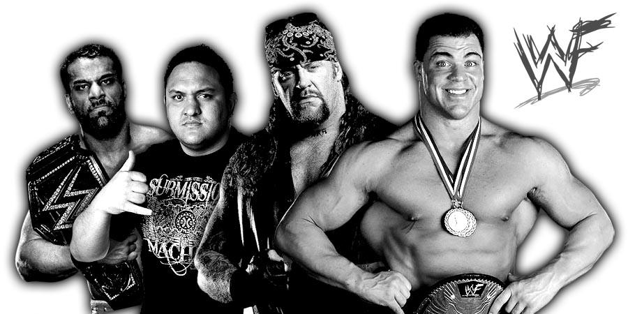 Jinder Mahal, Samoa Joe, The Undertaker, Kurt Angle