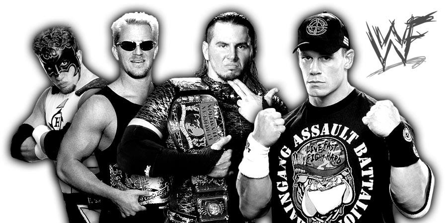 John Cena, BROKEN Matt Hardy, Jeff Jarrett, The Hurricane