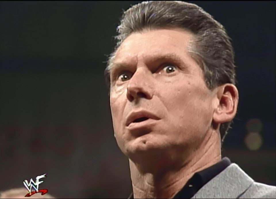 Mr. McMahon becomes angry after WWF Commissioner Shawn Michaels makes him the #2 entrant in the 1999 Royal Rumble match - WWF Raw Is War (January 4, 1999)