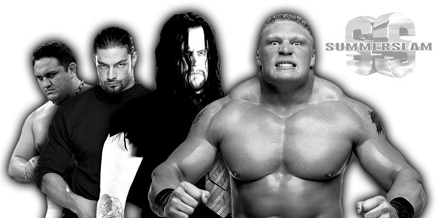 Samoa Joe, Roman Reigns, The Undertaker, Brock Lesnar