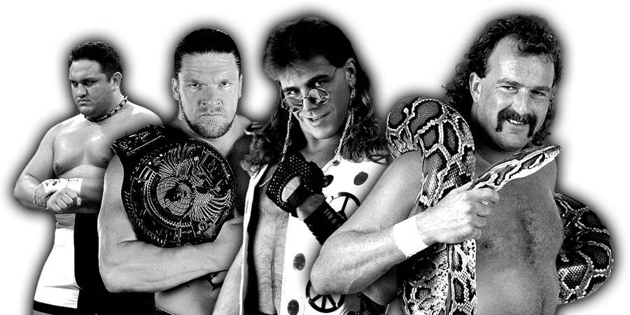 Samoa Joe, Triple H, Shawn Michaels, Jake Roberts