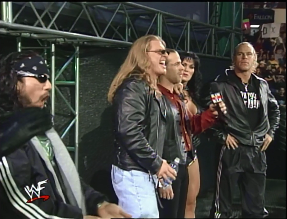 Shawn Michaels with DX -WWF Raw Is War (January 4, 1999)