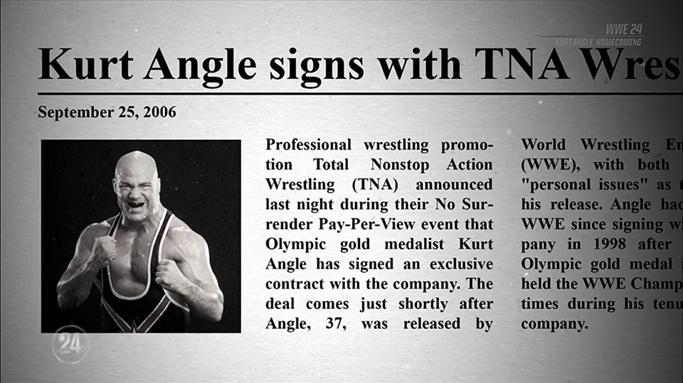 TNA Mentioned During WWE 24 Kurt Angle Special On The WWE Network