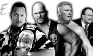 The Rock, Stone Cold, Brock Lesnar, Jim Cornette