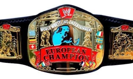 WWE European Championship WWF UK Tournament Title Belt Champion