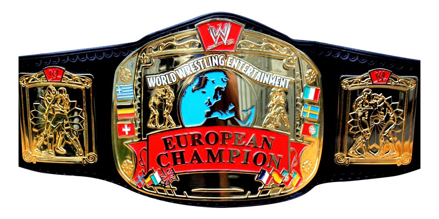 WWE European Championship WWF UK Tournament Title Belt Champion