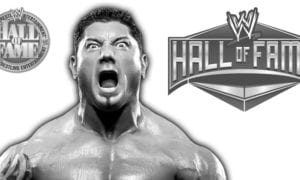 Batista Getting Inducted Into The WWE Hall of Fame Class of 2018