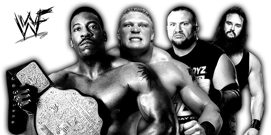 Booker T, Brock Lesnar, Bubba Ray Dudley, Braun Strowman