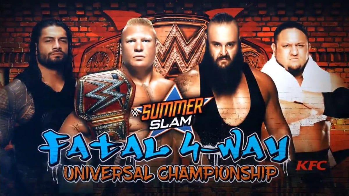 Brock Lesnar vs. Roman Reigns vs. Braun Strowman vs. Samoa Joe - SummerSlam 2017 (Universal Championship Match)