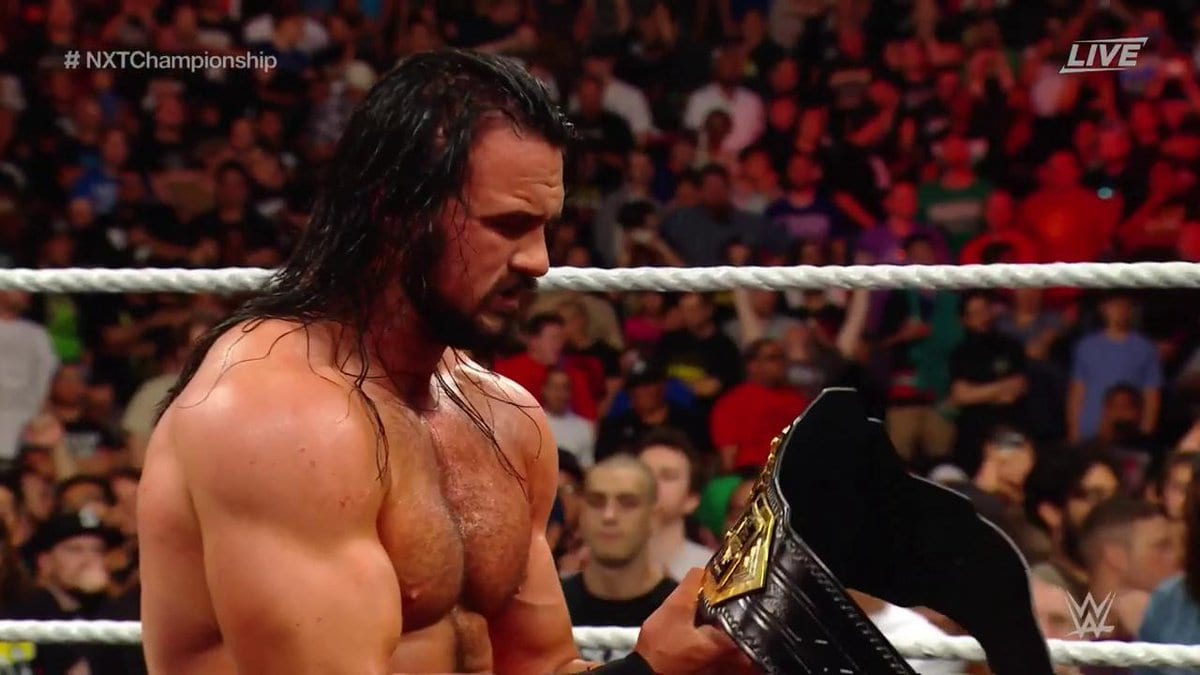 Drew McIntyre wins the NXT Championship at NXT TakeOver Brooklyn III