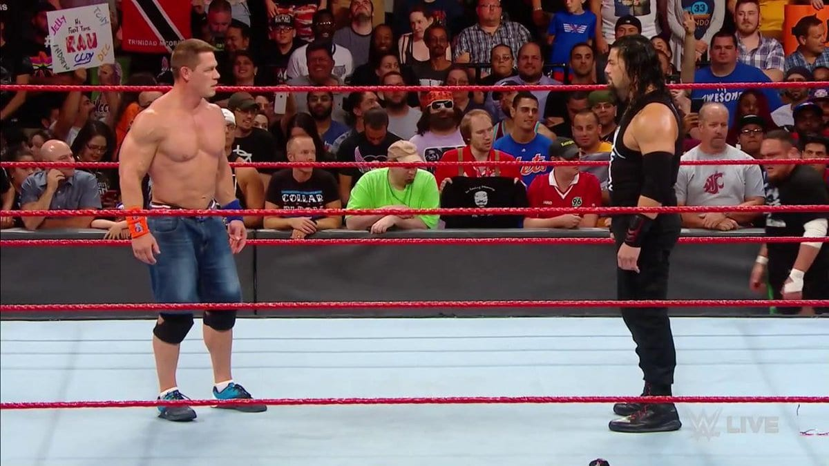 John Cena Confronts Roman Reigns & Ends Up Becoming His Tag Team Partner On Raw After SummerSlam 2017