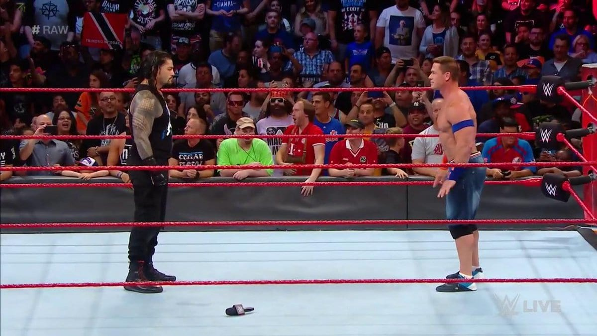 John Cena & Roman Reigns in the same ring on Raw after SummerSlam 2017