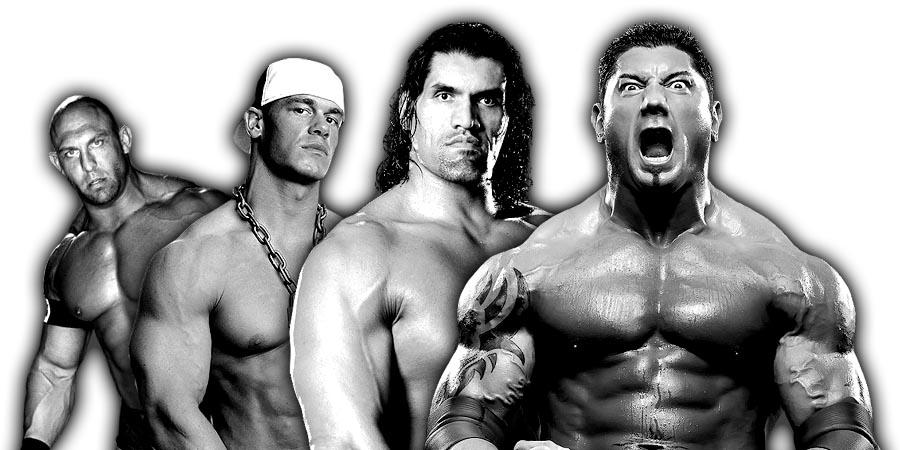 Ryback, John Cena, The Great Khali, Batista