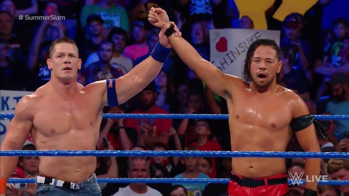 Shinsuke Nakamura defeated John Cena on SmackDown Live