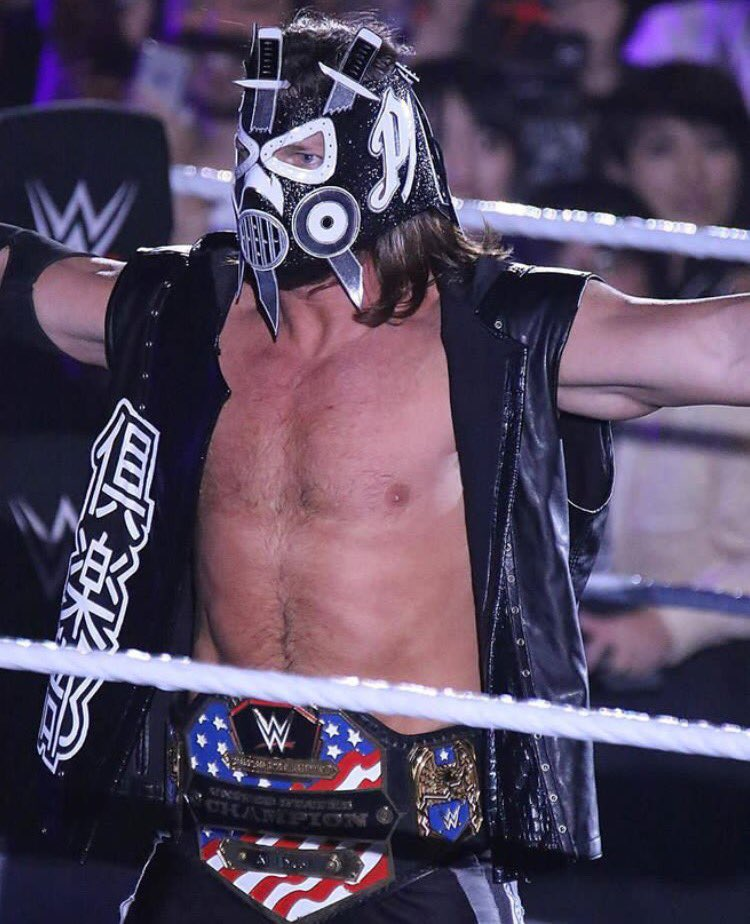 AJ Styles debuts new look in a mask at a WWE Live Event in Osaka, Japan (Septemeber 16, 2017) - 1