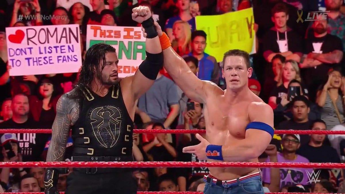 Roman Reigns defeats John Cena at No Mercy 2017