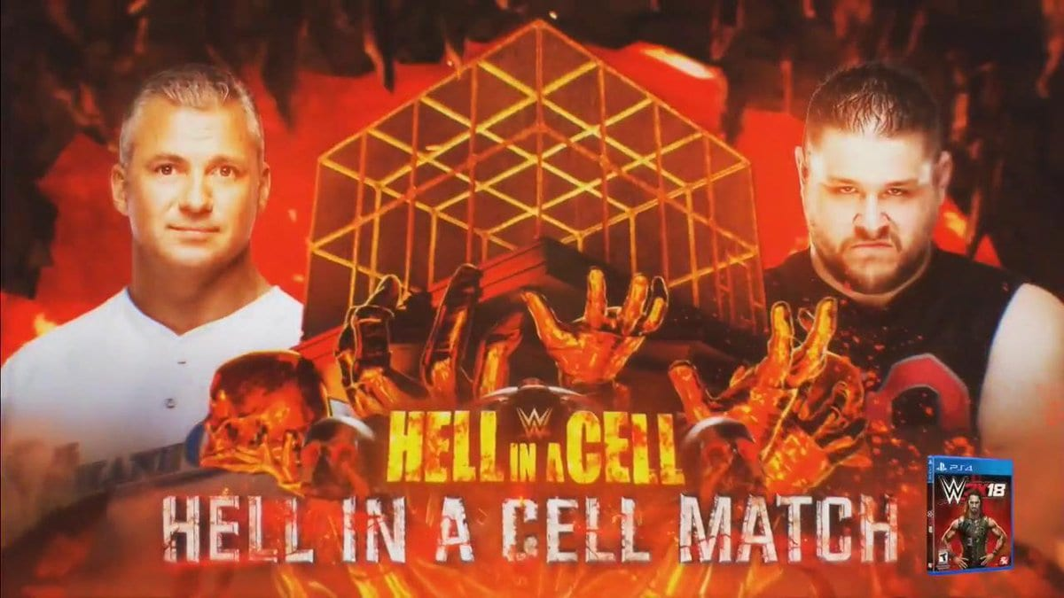 Shane McMahon vs. Kevin Owens - Hell in a Cell match at Hell In A Cell 2017 PPV