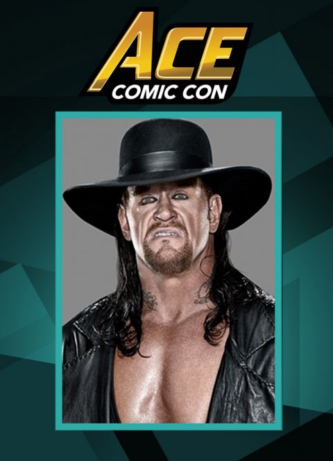 The Undertaker making a rare appearance at the Ace Comic Con in December 2017