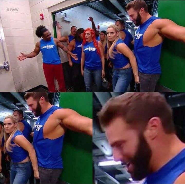 Natalya Touches Zack Ryder's Crotch