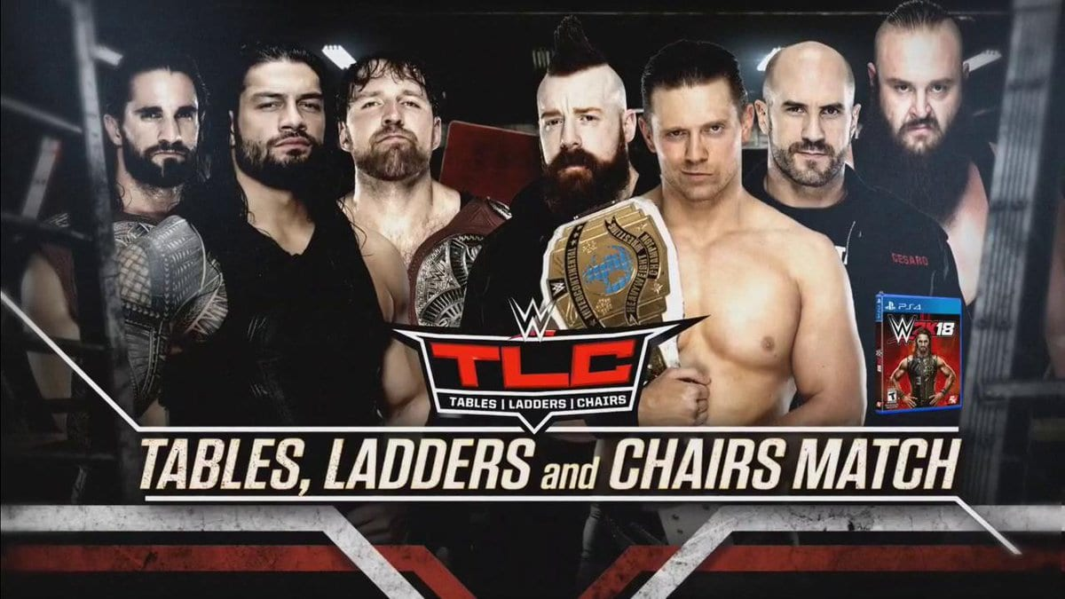 TLC 2017 - The Shield vs. Braun Strowman, The Miz, Cesaro & Sheamus (TLC Match)