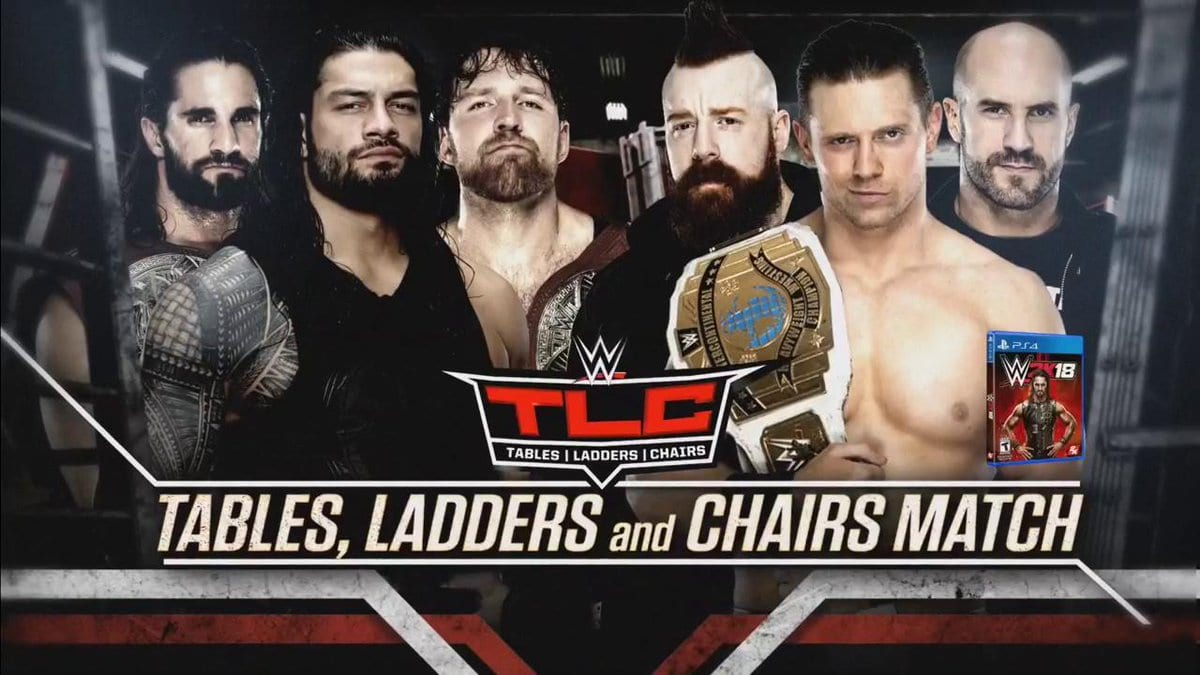 TLC 2017 - The Shield vs. The Miz, Cesaro & Sheamus (TLC Match)