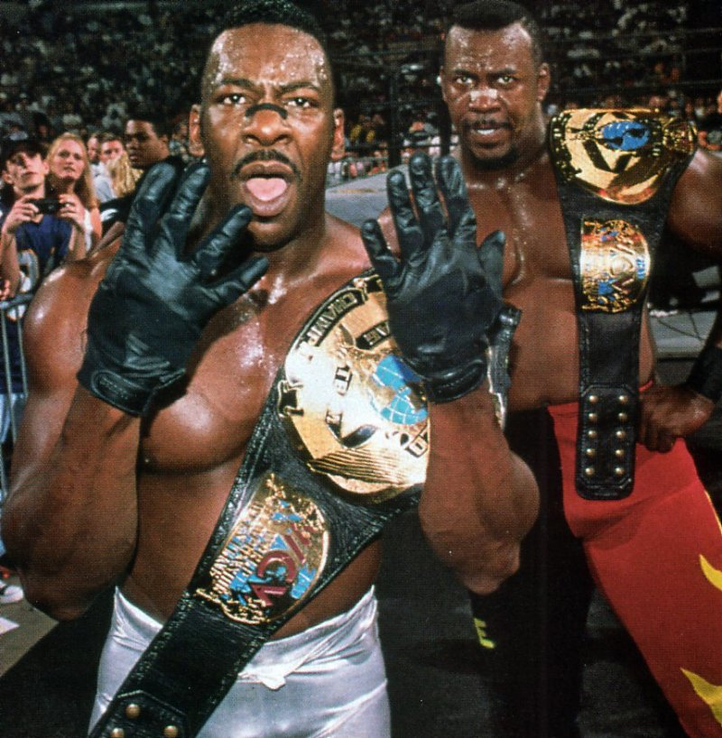 Booker T & Stevie Ray - Harlem Heat - WCW World Tag Team Champions