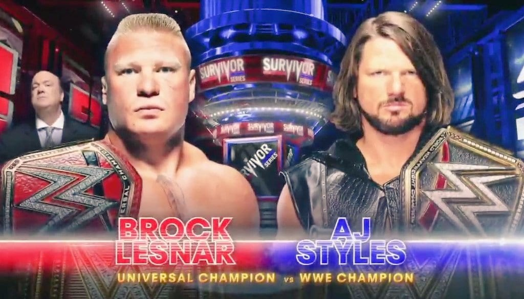 Brock Lesnar vs. AJ Styles - Survivor Series 2017