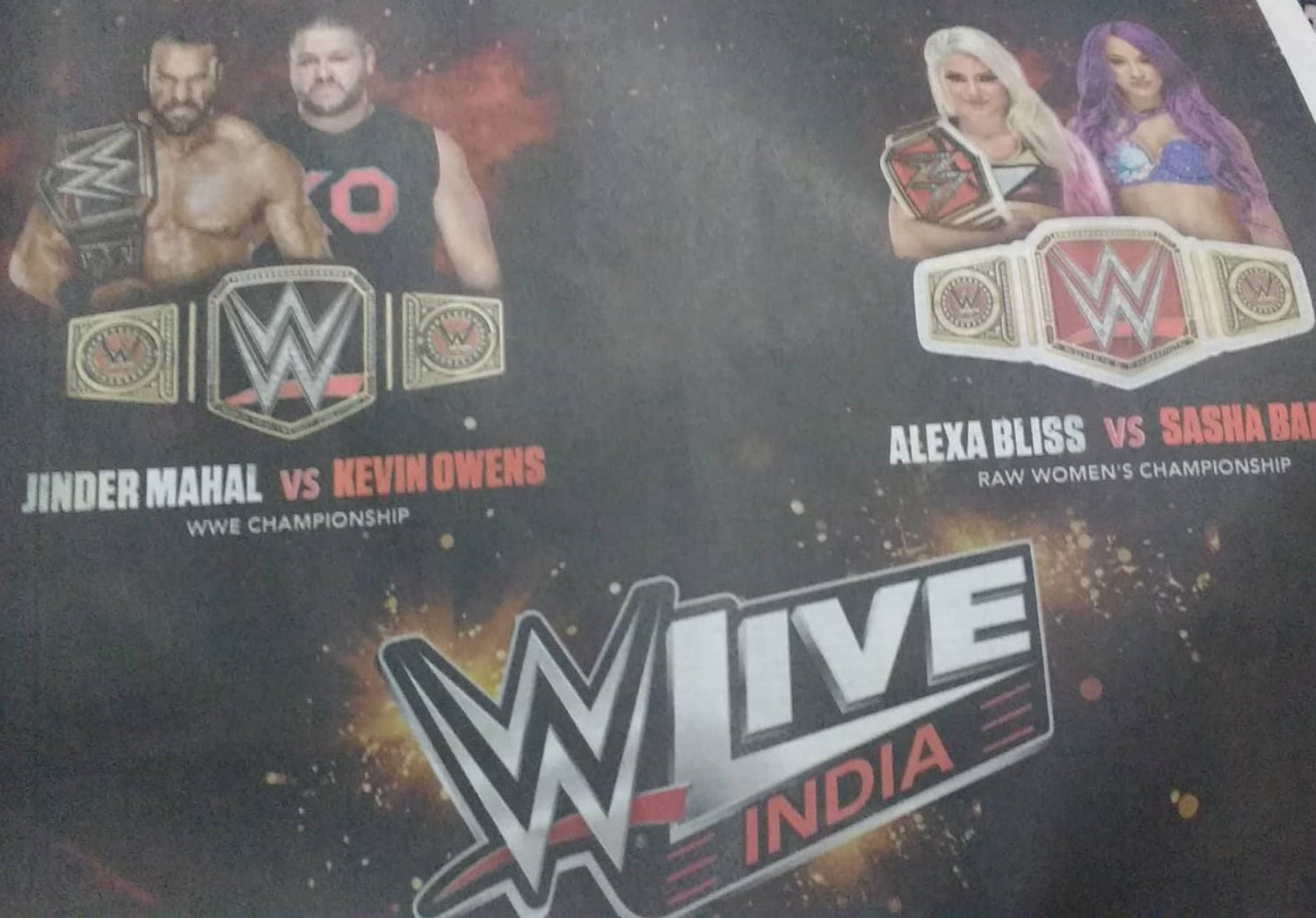 Jinder Mahal still being advertised to defend the WWE Championship against Kevin Owens in India after losing the WWE Title to AJ Styles on SmackDown Live