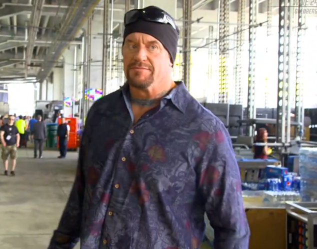 The Undertaker backstage at WrestleMania 33