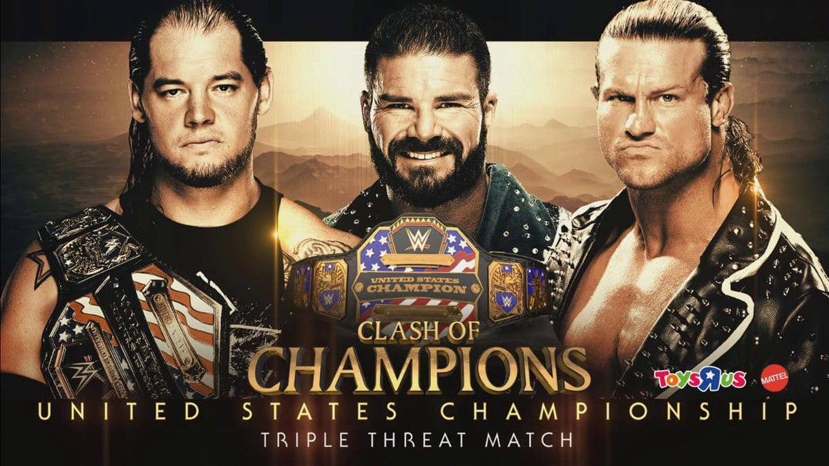 Clash of Champions 2017 - Baron Corbin vs. Bobby Roode vs. Dolph Ziggler (United States Championship Match)
