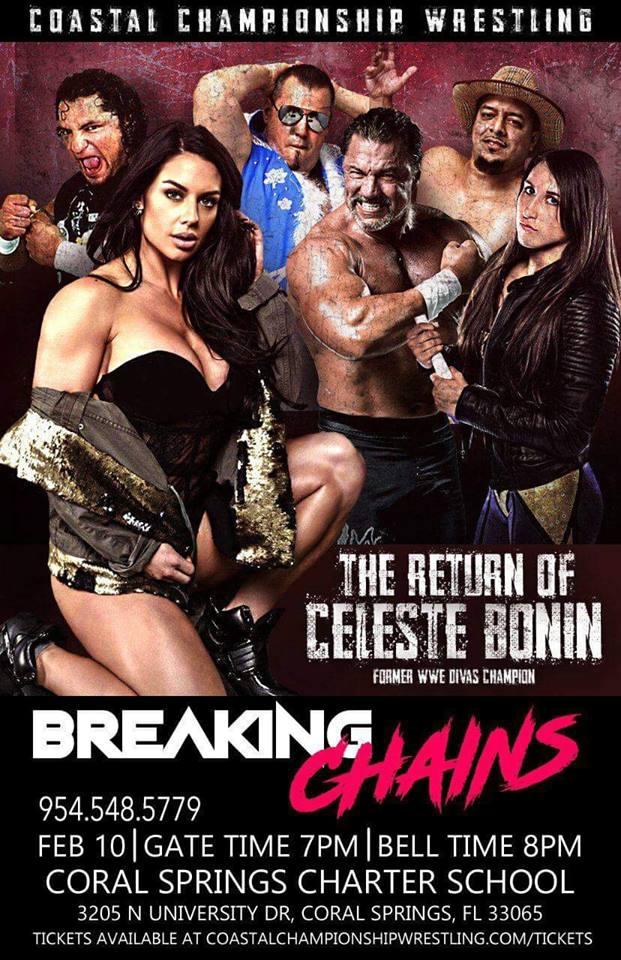 Kaitlyn (Celeste Bonin) Returning To Professional Wrestling In February 2018 At A Coastal Championship Wrestling Event