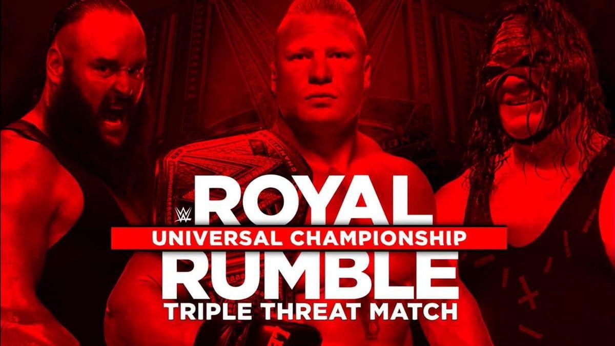 Royal Rumble 2018 - Brock Lesnar vs. Kane vs. Braun Strowman For The WWE Universal Championship